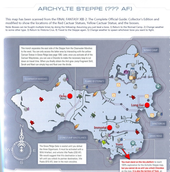 Locations of The Archylte Steppe bosses