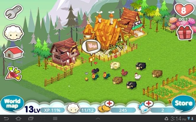 My tiny farm after 7 days