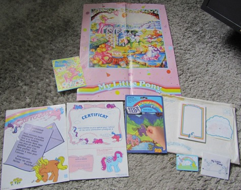 My Little Pony Fan Club package with other stuff