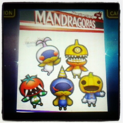 Mandragora card from Theatrhythm
