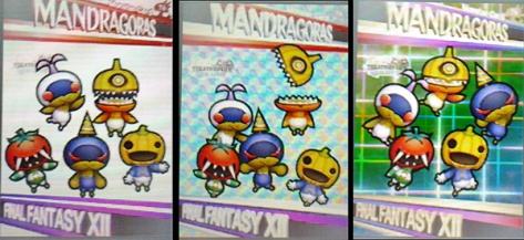 All 3 versions of the Mandragoras CollectaCard