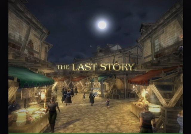 One of the more colourful title screens for The Last Story
