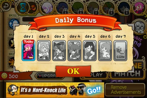 Witch Wars - Daily Bonus Crap