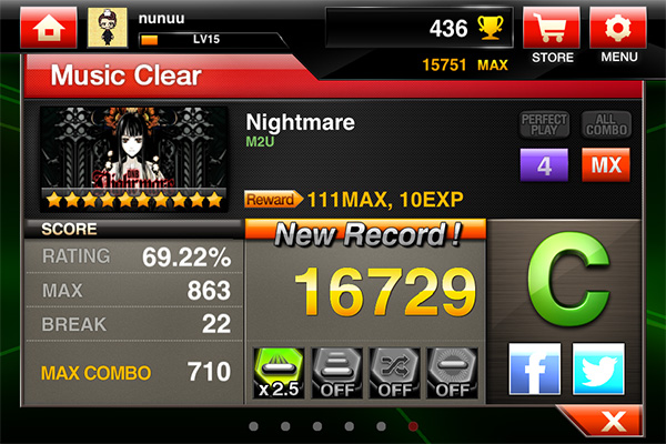 DJMax Ray - Nightmare 4L/MX Button Mash XD