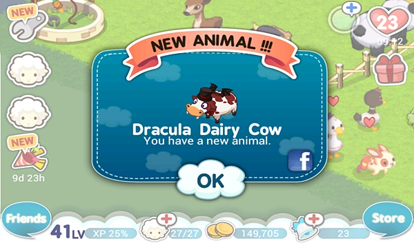 Tiny Farm - Dracula Cow Get~!
