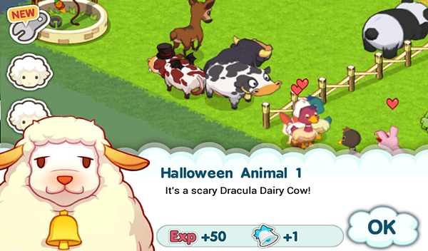Tiny Farm - Dracula Cow w/ Parents~!
