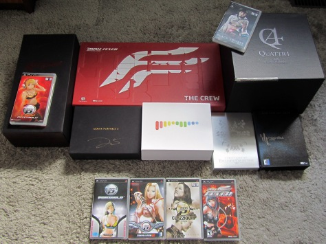Haha. I didn't realize that DJMax Trilogy was upside down until I was cropping the photo. XD