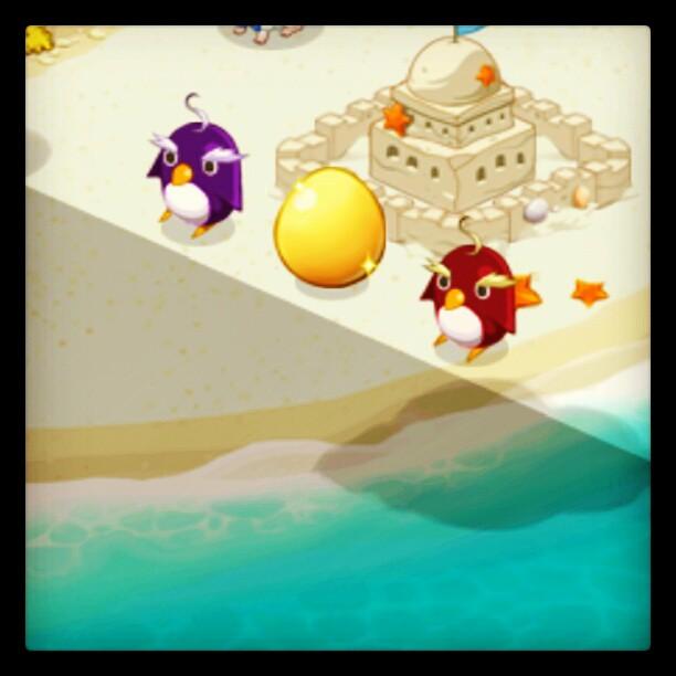 Guarding the sparkling Golden Egg~