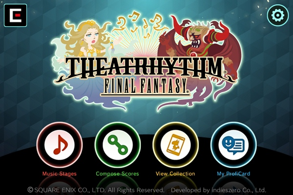 Theatrhythm iOS menu