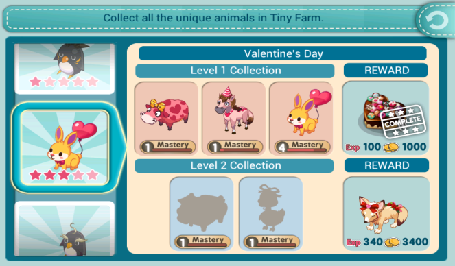 Tiny Farm - Valentine's Day Level 2 collection