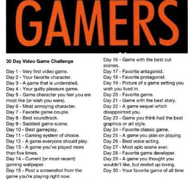30 Day Video Game Challenge Day 1 Gaming4gamers