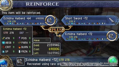 Ys: Memories of Celceta - Reinforcing Frieda's Final Weapon