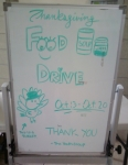 Thanksgiving Food Drive Sign at Church