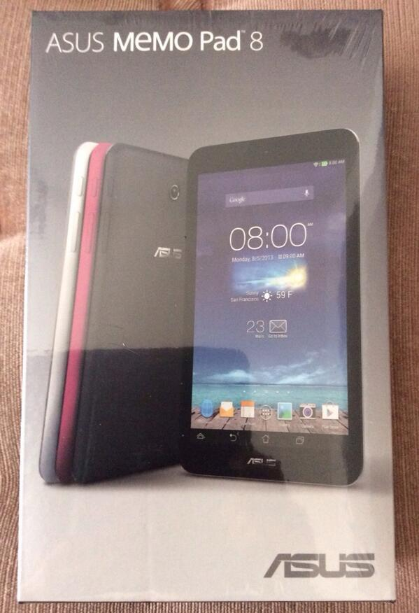 ASUS MeMO Pad 8 has arrived!