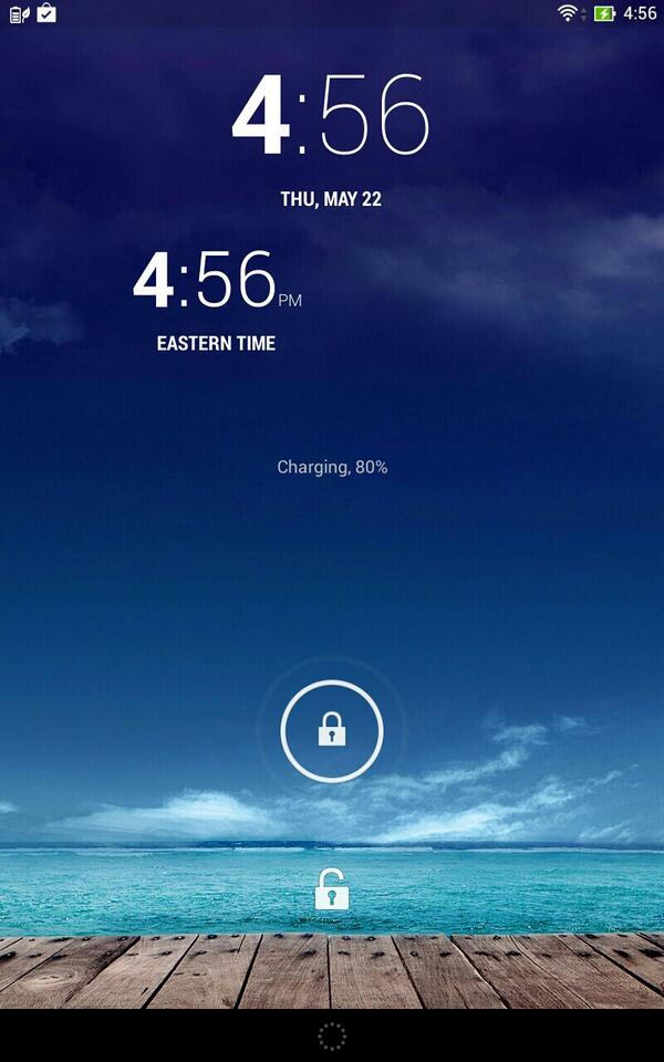 Goofy clock widget