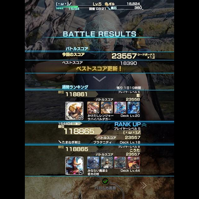 Mobius FF: Best Score Ranks