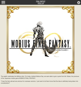 FF Portal App; Mobius FF International Version a possibility?