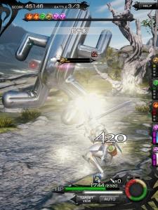Mobius Final Fantasy - Gigantuar Map - Wall in effect