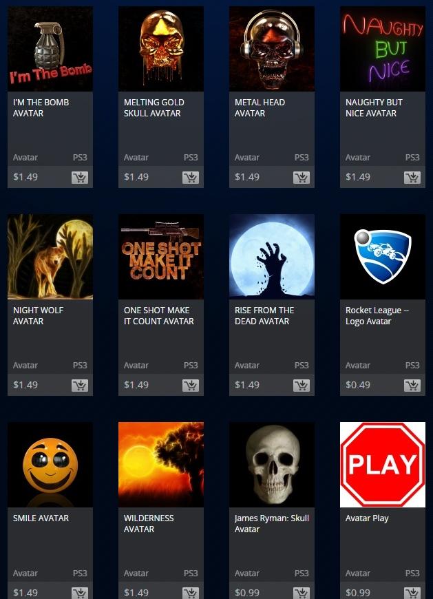 playstation store ps3 avatars rant