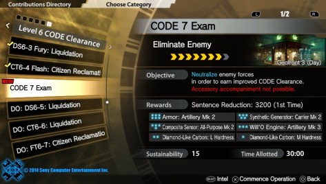 Freedom Wars - CODE 7 Exam