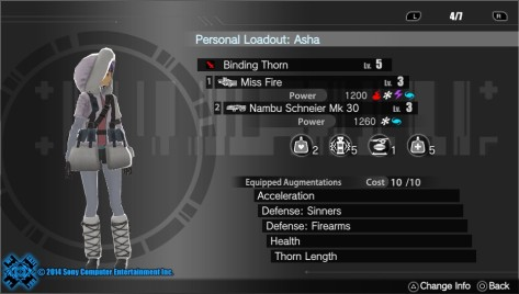 Freedom Wars - Loadout for CODE 7 Exam