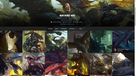 ArtStation site for Bayard Wu