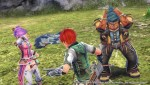 Ys VIII - Hummel saves the three from a monster