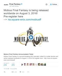 Mobius Final Fantasy EN release date