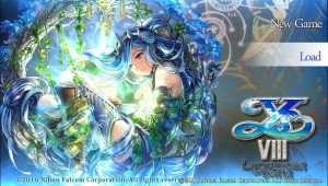 Ys VIII Menu Screen