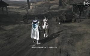 Mobius Final Fantasy - Meia and a previous Warrior of Light