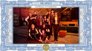 Final Fantasy XV - Certificate of Completion