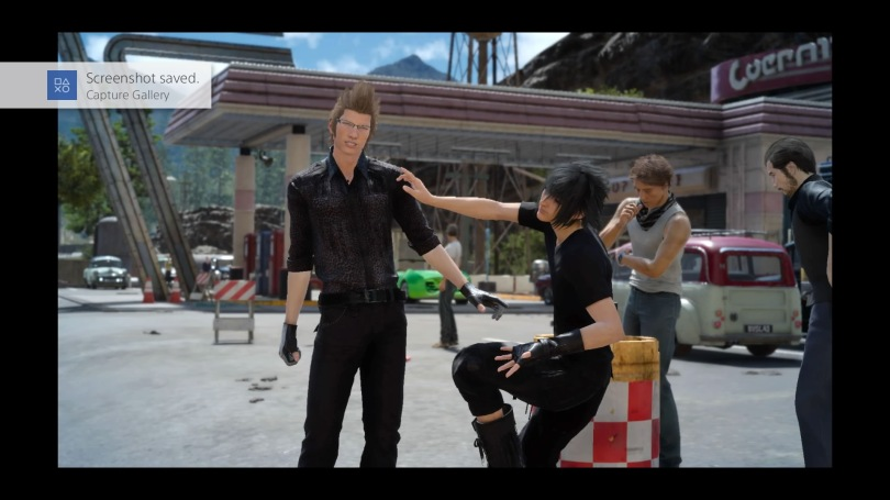 Final Fantasy XV - Weird photo with Ignis and Noctis
