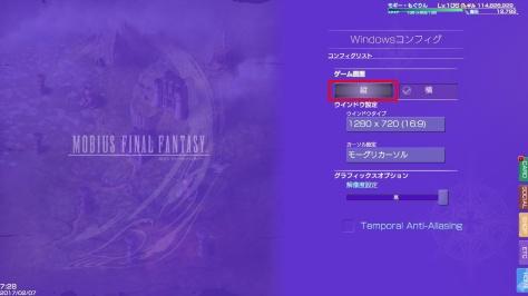 Mobius FF Steam full screen option