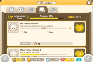Tiny Farm - Cat and Dog Achievement