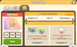 Tiny Farm - Mid-Autumn Festival Event 2017 - Lucky Bags Menu