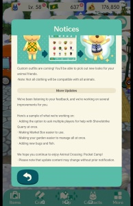 Animal Crossing: Pocket Camp - Future improvements