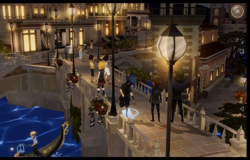 Final Fantasy XV: Pocket Edition - Altissia at night