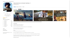 Final Fantasy XV: Pocket Edition - App description on iTunes